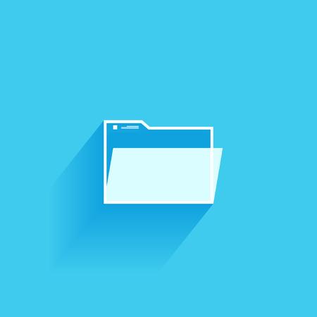 Folder Icon Isolated on Blue Background