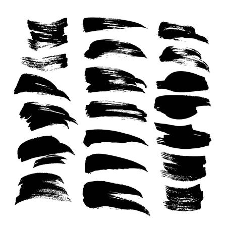 Black ink strokes big set 1 on white background