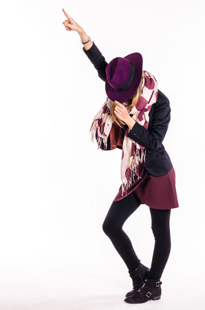 moonwalk: Fashion Girl With Hat in Dance Pose