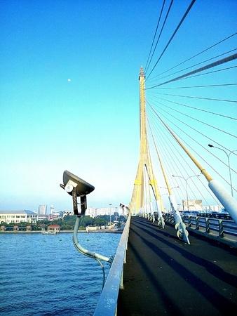 viii: Rama VIII bridge in bangkok, Thailand.