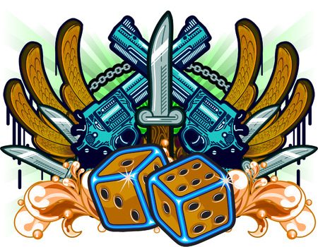 organized crime: Gambling Guns Wings and Knifes