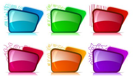 disperse: Color and glossy Folder set Illustration