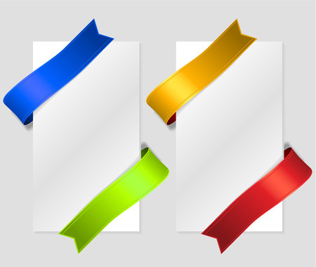 Web tag buttons corners Vector