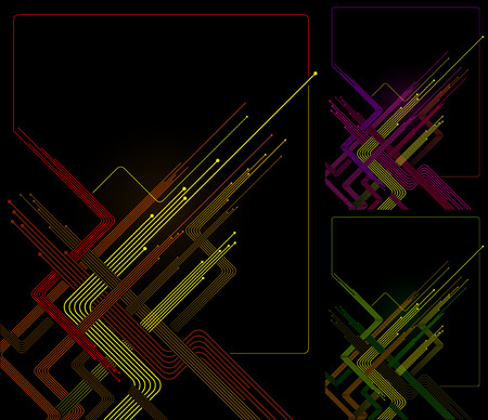 multiple exposure: Diagonal Orange and yellow lines in dark background Illustration