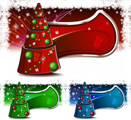 sensory perception: Christmas tree in color set