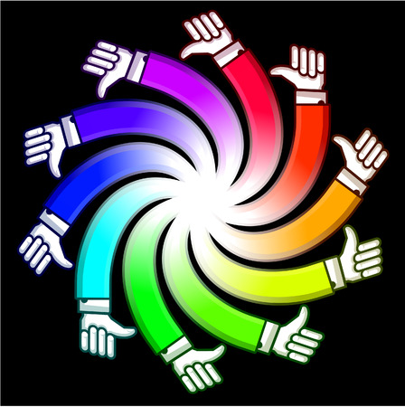 adulation: Spiral hand Illustration