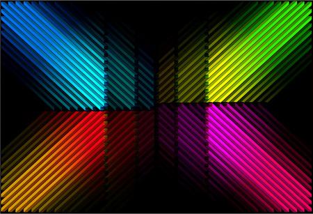 diagonal: Diagonal color bars Illustration