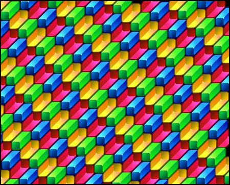 vanishing point: Colorful geometric pattern Illustration
