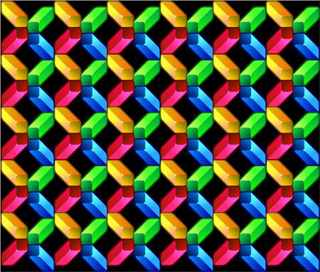vanishing point: Cross pattern in colors Illustration