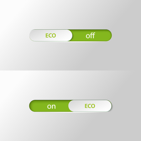 Bouton slider eco sur off Banque d'images - 75153856