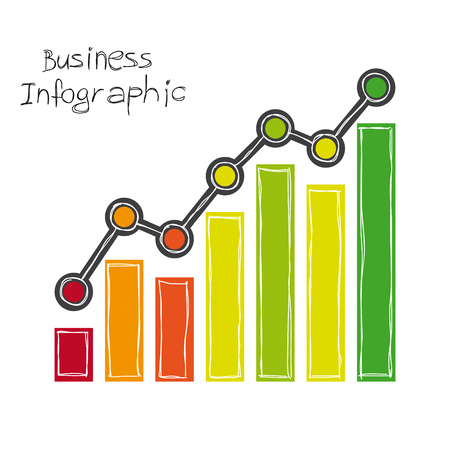 business infographic freehand drawing