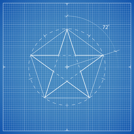 delineation: drawing star pentahedron