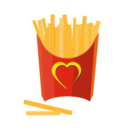 Patatine fritte su sfondo bianco Archivio Fotografico - 75275495