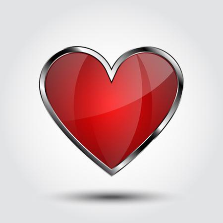 heart shield Illusztráció