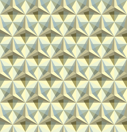reiteration: Triangular geometric seamless pattern
