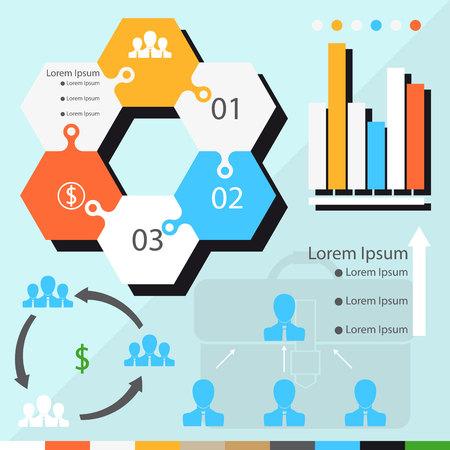 businesslike: Business diagram. Illustration