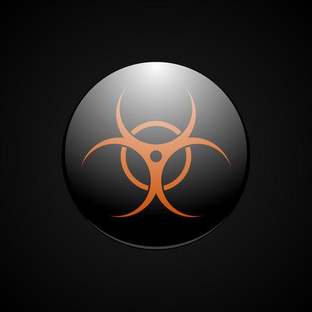 Biohazard orange symbol. Иллюстрация