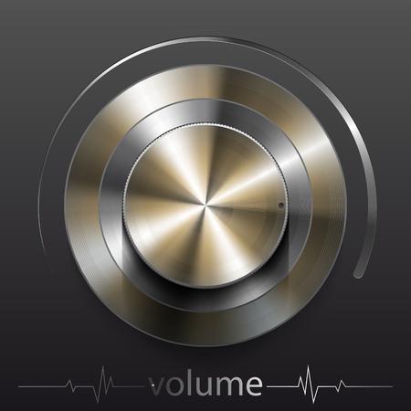 brassy: Button volume.