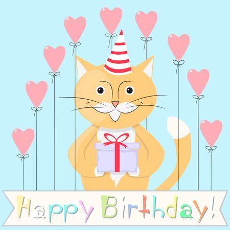 Cat happy birthday.