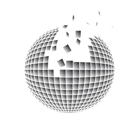Sphere disintegration.