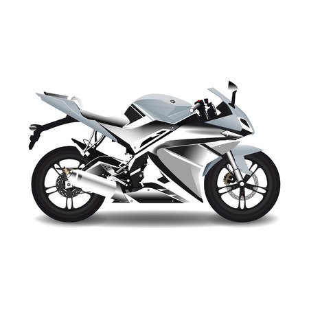 Motorcycle, steel sport bike.