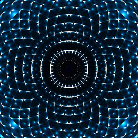 幾何学的な目のマンダラ。カラフルなデザイン要素です。ベクトルの図。