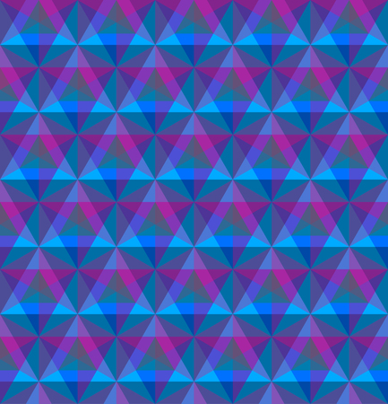 Triangular geometric seamless pattern. Illustration