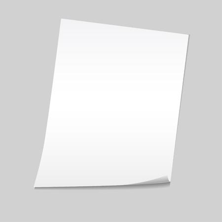 Paper on a gray background mock up. Vector illustration. Ilustração