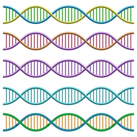 DNA symbol. Vector Illustration.