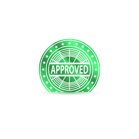 Approved chip. Success concept. Vector Illustration.