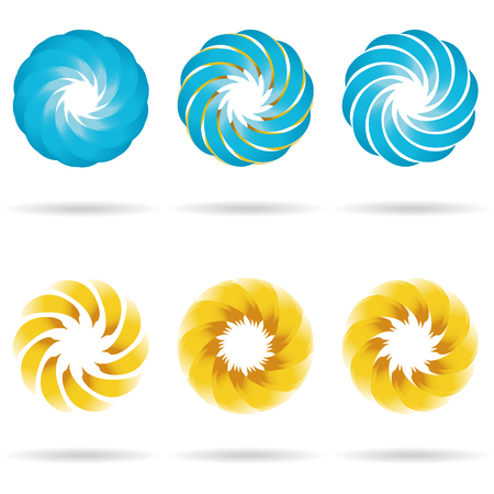 ideograph: Logo flower icon set. Vector Illustration. Illustration