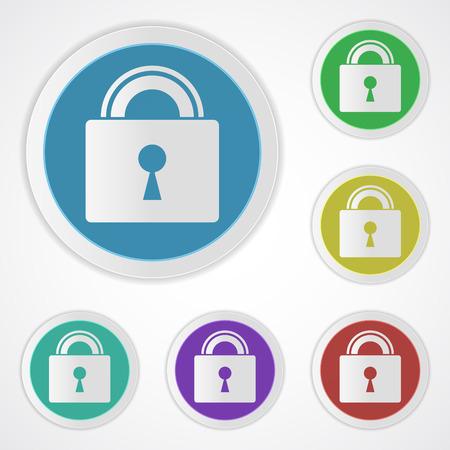 Lock icons closed. Ilustração