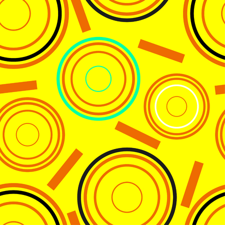 Concentric circles seamless pattern. Vector Illustration.