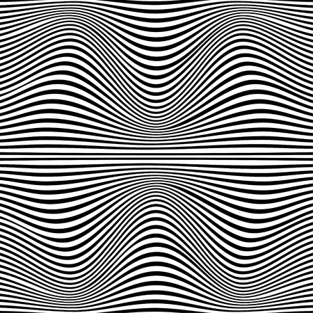 trickery: A black and white optical illusion. Vector Illustration. Illustration