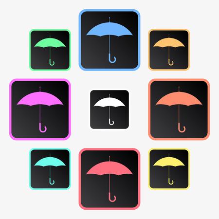 Umbrella icons.