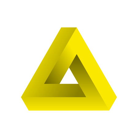 Abstract impossible triangle. Vector Illustration. Illustration