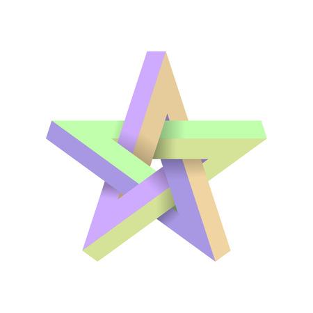 Impossible star. Vector Illustrstion.
