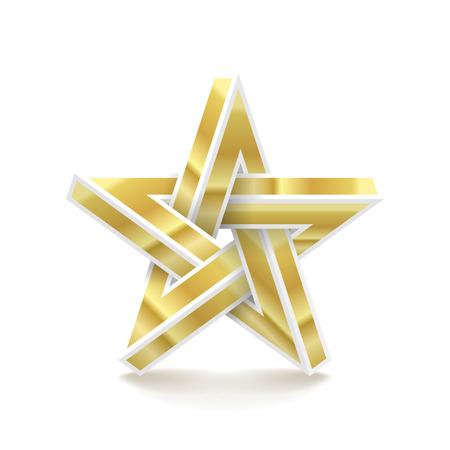 Impossible star. Imitation metal. Vector Illustration. Illustration