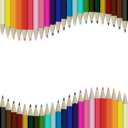 Pencils multicolored abstract background.