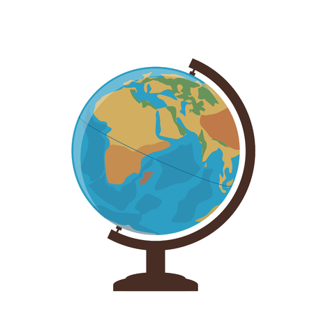 School globe on a white background. Vector Illustration. Illustration