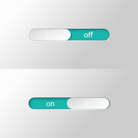 Button slider on off. Иллюстрация