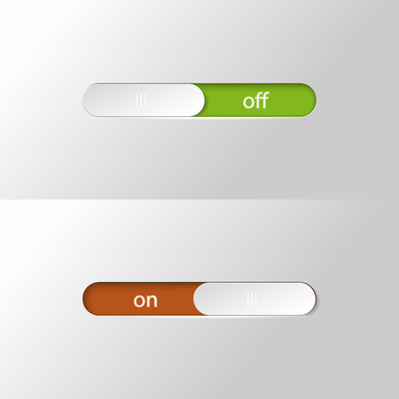 Button slider on off. Illustration