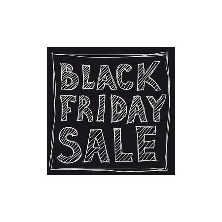 검은 금요일 판매. 자유형 그리기.