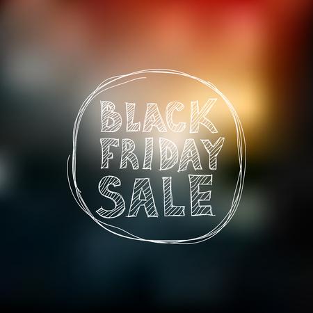 Black Friday sale. Freehand drawing. Illustration
