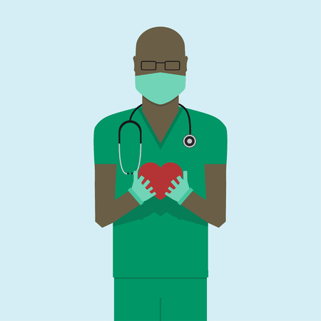 medico: Doctor flat design Illustration