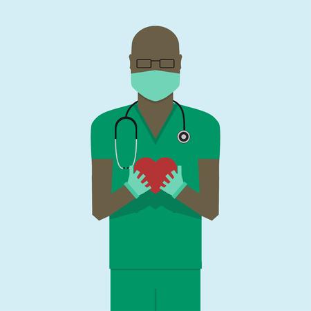 dr: Doctor flat design Illustration