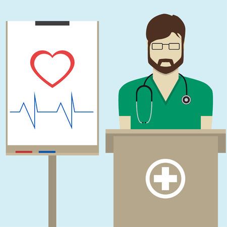 Doctor flat design Illustration
