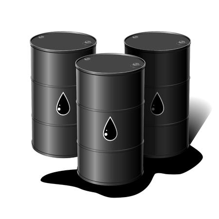 Barrel of oil. Vector illustration
