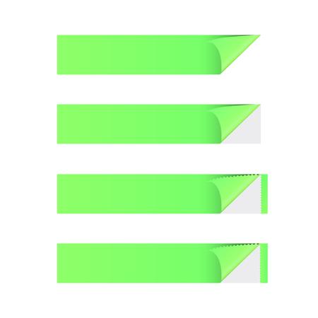 Sticker banner green