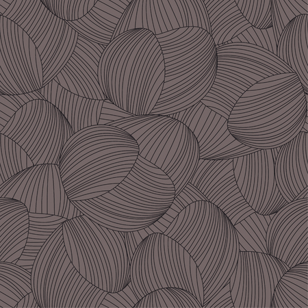 Seamless abstract hand-drawn pattern, waves background. Gorgeous seamless floral background. Vector Illustration